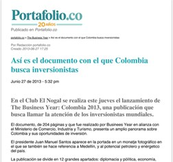 Colombia 2013 receives media attention
