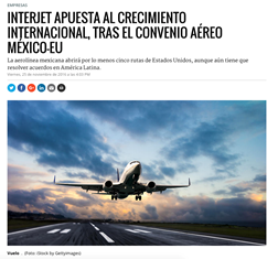 TBY's analysis of new Open Skies Agreement featured in Mexican media