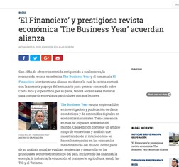 TBY signs MoU with El Financiero in Costa Rica.