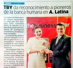 TBY awards Bancolombia