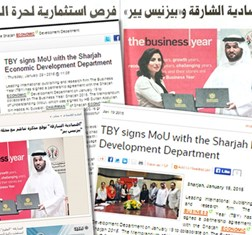 TBY Sharjah MoU in the news
