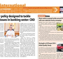 Oman Daily Observer covers TBY interview with HE Hamood Sangour Al-Zadjali, Executive President of the Central Bank of Oman