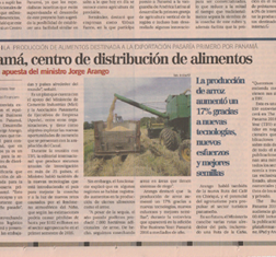 ​Capital Financiero covers TBY interview with the Minister of Agriculture