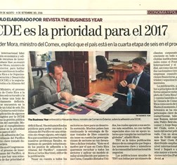 TBY interview with Costa Rica Minister of Foreign Trade Alexander Mora in local press