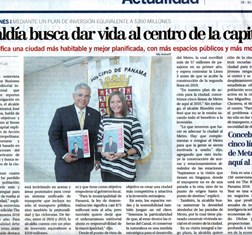 Panama's Capital Financiero covers TBY interview with Mayor of Panama City