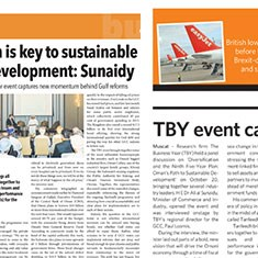 TBY event receives coverage in Omani press