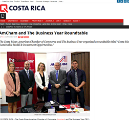 TBY/Costa Rican-American Chamber of Commerce roundtable in Local Press