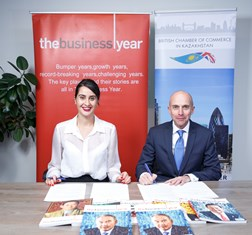 The Business Year and the British Chamber of Commerce in Kazakhstan sign MoU