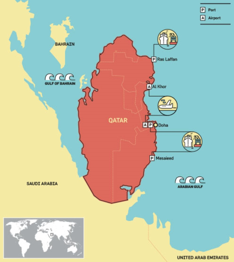 Image result for map of qatar region