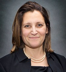 Honourable Chrystia Freeland